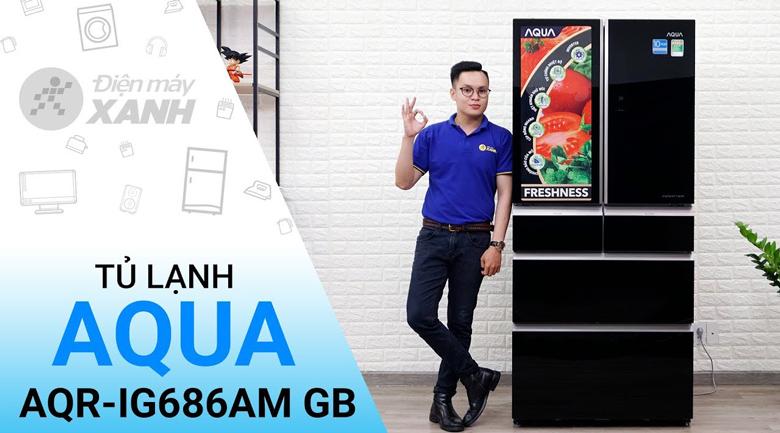 Tủ lạnh Aqua Inverter 515 lít AQR-IG686AM GB - tại Điện Máy Xanh