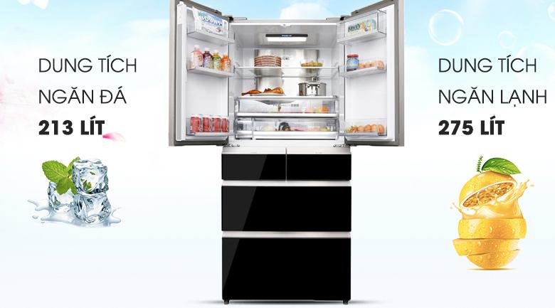 Dung tích - Tủ lạnh Aqua Inverter 515 lít AQR-IG686AM