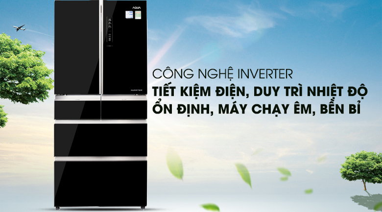 Cong nghệ Inverter - Tủ lạnh Aqua Inverter 515 lít AQR-IG686AM