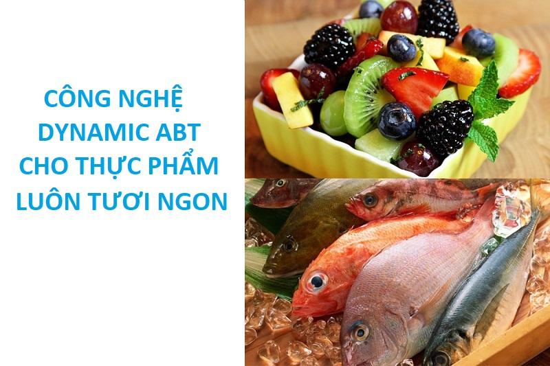 Diệt khuẩn khử mùi Dynamic ABT tiêu diệt mọi vi khuẩn và mùi hôi phát sinh bên trong tủ lạnh