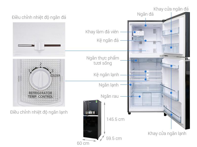 Thông số kỹ thuật Tủ lạnh Panasonic Inverter 234 lít NR-BL268PKVN