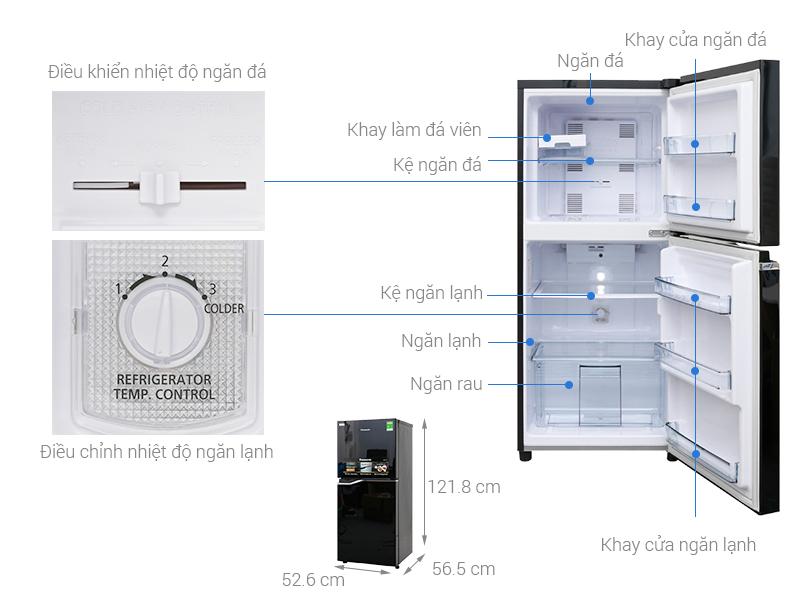 Thông số kỹ thuật Tủ lạnh Panasonic Inverter 152 lít NR-BA178PKV1