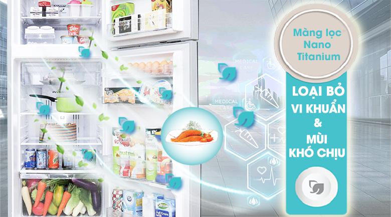 Màng lọc Nano Titanium - Tủ lạnh Hitachi Inverter 395 lít R-VG470PGV3 XGR