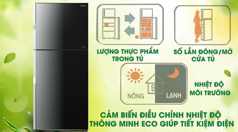 Cảm biến Eco - Tủ lạnh Hitachi Inverter 395 lít R-VG470PGV3 XGR