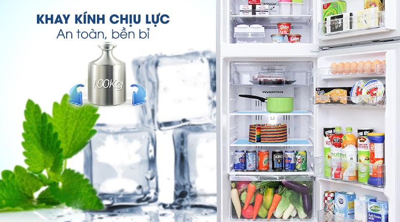 Khay kính chịu lực - Tủ lạnh Hitachi Inverter 395 lít R-VG470PGV3 XGR