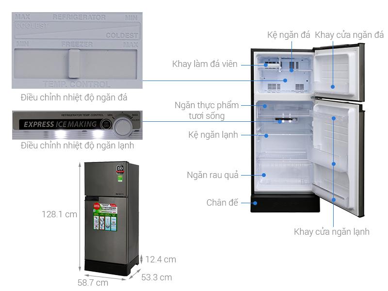 Thông số kỹ thuật Tủ lạnh Sharp Inverter 165 lít SJ-X176E-SL