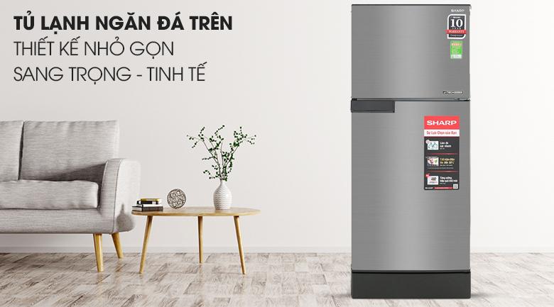 Tủ lạnh Sharp Inverter 165 lít SJ-X176E-SL