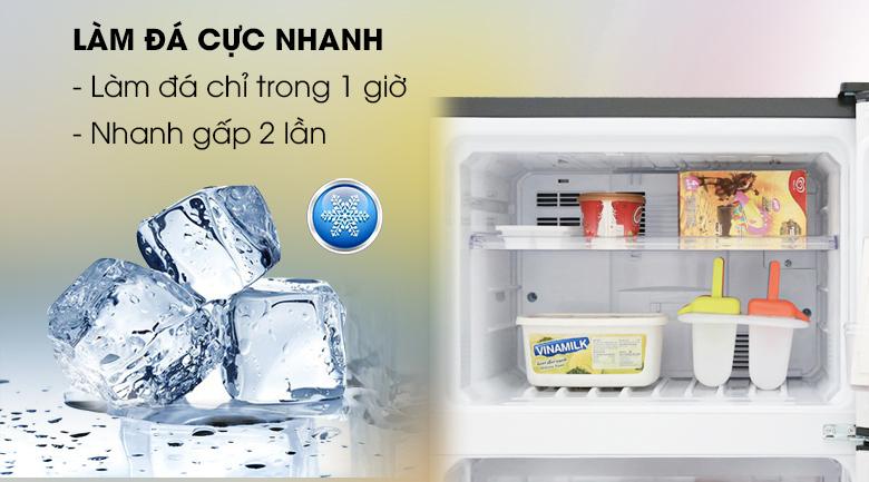 Làm đá nhanh - Tủ lạnh Sharp Inverter 165 lít SJ-X176E-SL