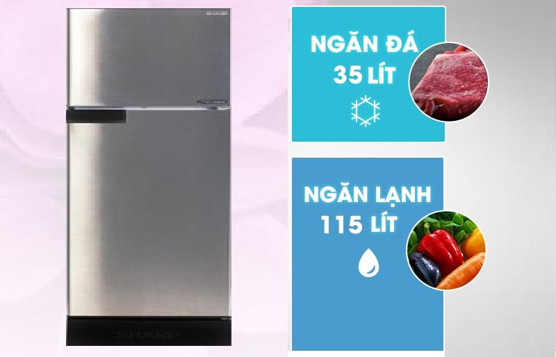 Tủ lạnh 2 cửa, ngăn đá trên quen thuộc với người tiêu dùng