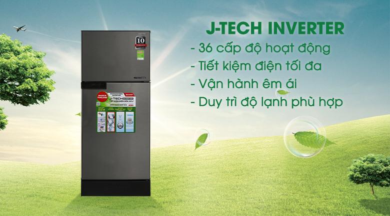 công nghệ J-Tech Inverter - Tủ lạnh Sharp Inverter 165 lít SJ-X176E-SL