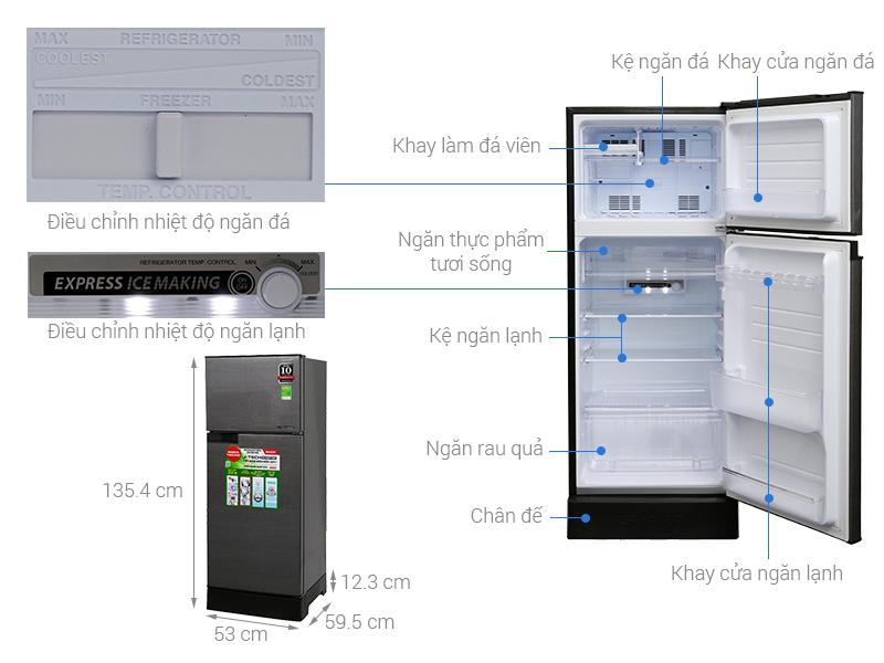 Thông số kỹ thuật Tủ lạnh Sharp Inverter 180 lít SJ-X196E-DSS
