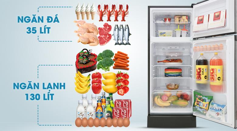 Dung tích 180 lít - Tủ lạnh Sharp Inverter 180 lít SJ-X196E-DSS