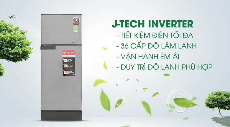 Công nghệ J-Tech Inverter - Tủ lạnh Sharp Inverter 180 lít SJ-X196E-DSS