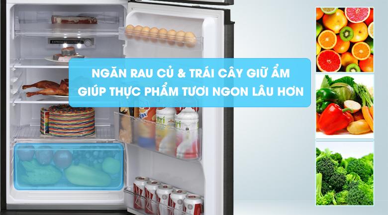 Ngăn rau củ & trái cây giữ ẩm - Tủ lạnh Sharp Inverter 180 lít SJ-X196E-DSS