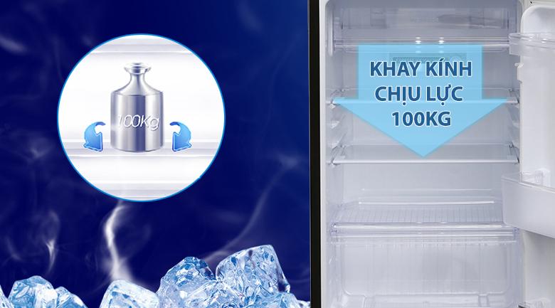 Khay kính chịu lực an toàn, bền bỉ - Tủ lạnh Sharp Inverter 180 lít SJ-X196E-DSS