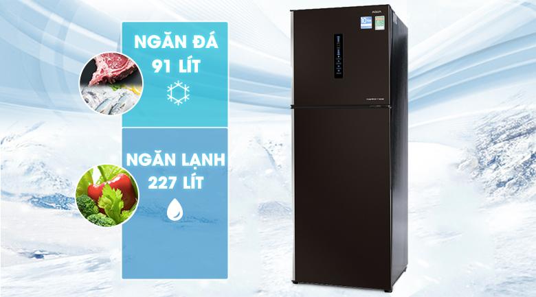 Tủ lạnh Aqua Inverter 345 lít AQR-IU356DN DB
