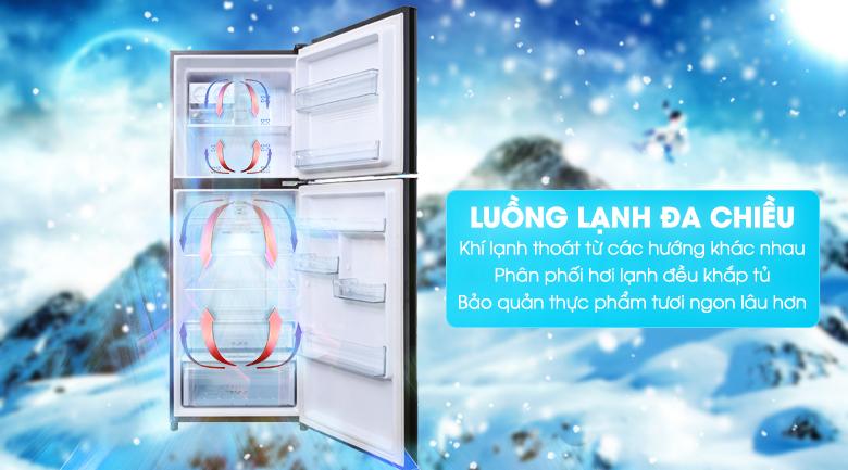 Công nghệ luồng lạnh đa chiều làm lạnh nhanh chóng và đồng đều các ngăn tủ - Tủ lạnh Aqua Inverter 345 lít AQR-IU356DN DB