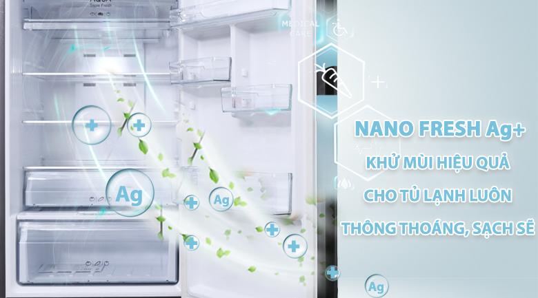 Diệt khuẩn, khử mùi với công nghệ Nano Fresh Ag+ - Tủ lạnh Aqua Inverter 345 lít AQR-IU356DN DB