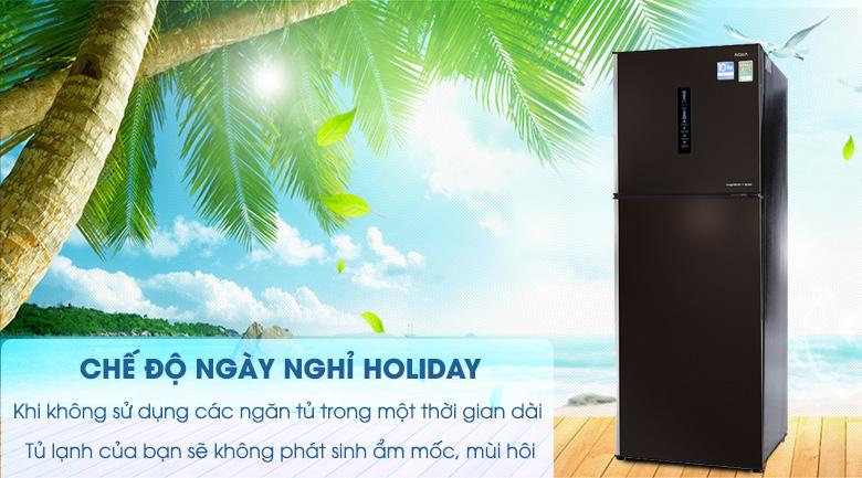 Chế độ ngày nghỉ Holiday - Tủ lạnh Aqua Inverter 345 lít AQR-IU356DN DB