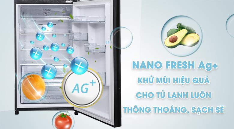 Nano Fresh Ag+ - Tủ lạnh Aqua Inverter 345 lít AQR-IG356DN GBN