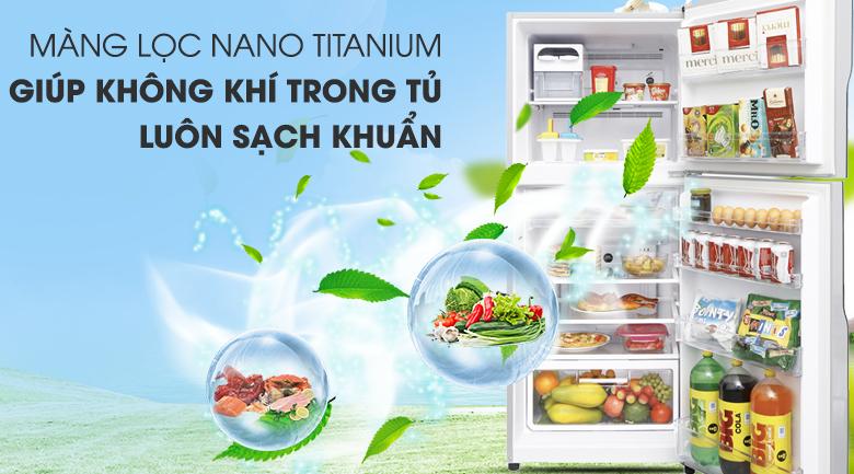 Nano Titanium - Tủ lạnh Hitachi Inverter 335 lít R-V400PGV3 SLS