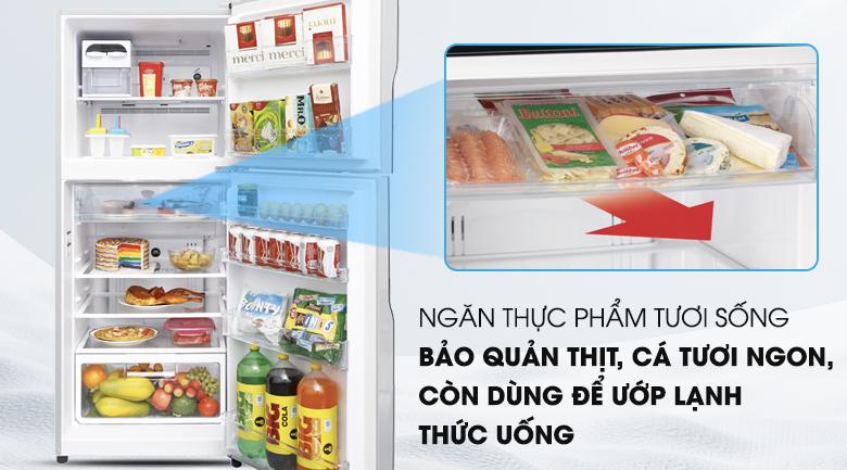 Ngăn bản quản tươi sống - Tủ lạnh Hitachi Inverter 335 lít R-V400PGV3 SLS