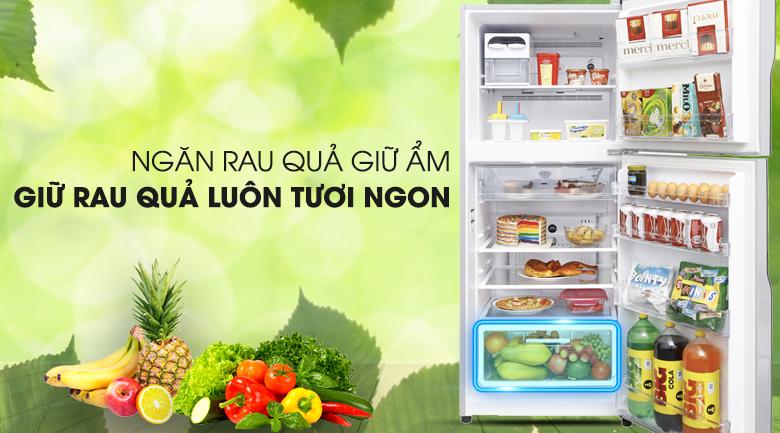 Ngăn rau củ - Tủ lạnh Hitachi Inverter 335 lít R-V400PGV3 SLS