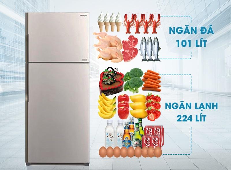 Tủ lạnh kiểu dáng 2 cửa, ngăn đá trên truyền thống, quen thuộc với người tiêu dùng