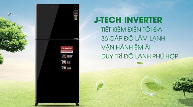 Công nghệ J-Tech Inverter tiết kiệm điện - Tủ lạnh Sharp Inverter 613 lít SJ-XP595PG-BK
