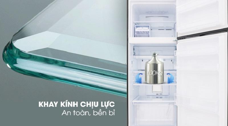 Khay ngăn bằng kính chịu lực - Tủ lạnh Sharp Inverter 613 lít SJ-XP595PG-BK