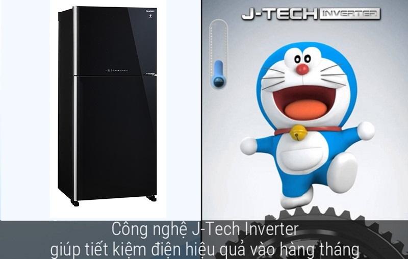 Khả năng vận hành êm ái, ổn định với công nghệ J-Tech Inverter
