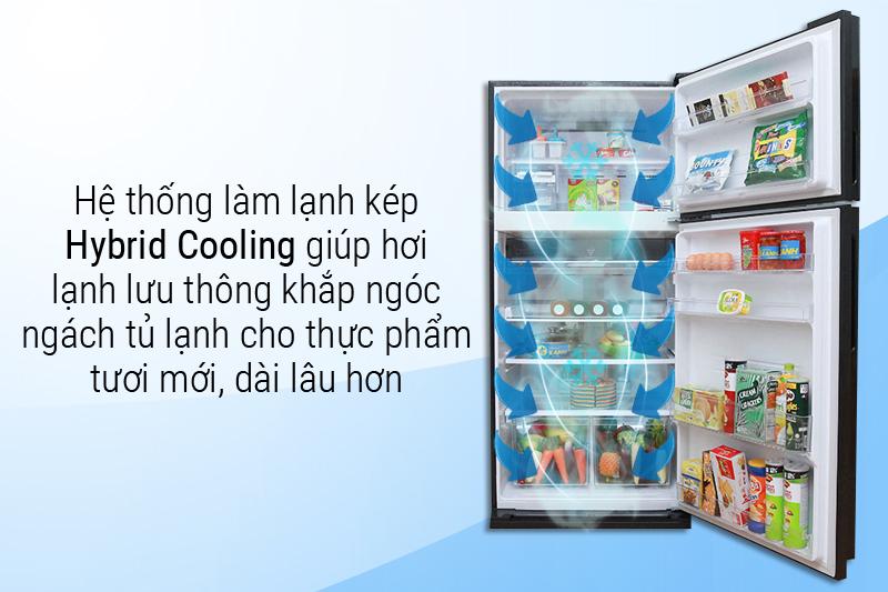 Đảm bảo thực phẩm tươi ngon lâu hơn với hệ thống làm lạnh kép Hybrid Cooling