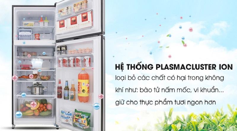 Công nghệ Plasmacluster ions khử mùi hiệu quả - Tủ lạnh Sharp Inverter 364 lít SJ-XP405PG-BK