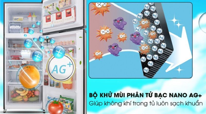 Bảo vệ sức khỏe với bộ khử mùi Nano Ag+ - Tủ lạnh Sharp Inverter 364 lít SJ-XP405PG-BK
