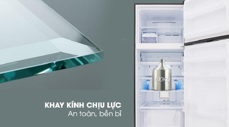 Khay ngăn bằng kính chịu lực - Tủ lạnh Sharp Inverter 364 lít SJ-XP405PG-BK