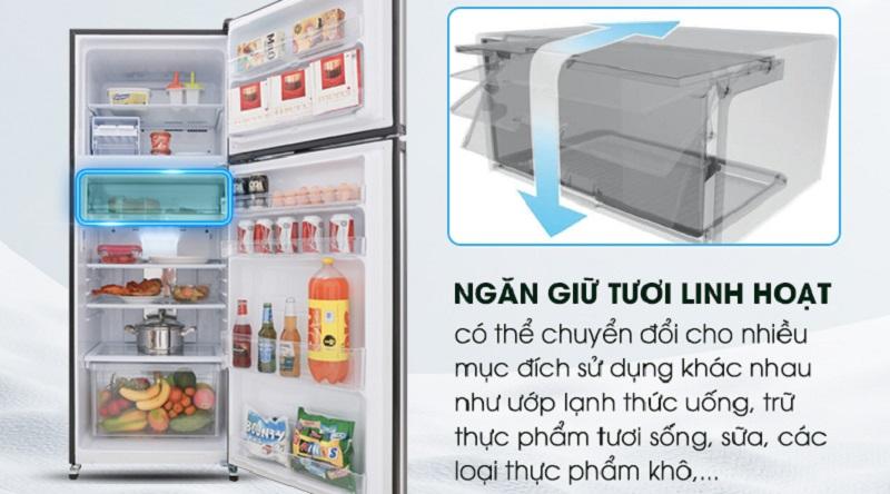 Ngăn giữ tươi linh hoạt bảo quản thực phẩm lâu hơn - Tủ lạnh Sharp Inverter 364 lít SJ-XP405PG-BK