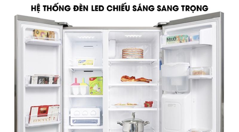 Hệ thống đèn chiếu sáng tốt, giúp bạn dễ dàng quan sát khi sử dụng - Tủ lạnh Samsung Inverter 538 lít RS52N3303SL/SV