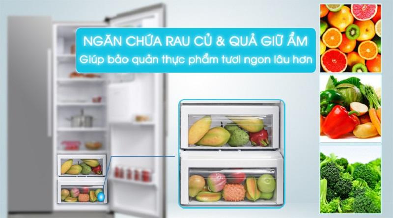 Bảo quản rau củ quả tươi ngon lâu hơn với ngăn giữ ẩm - Tủ lạnh Samsung Inverter 538 lít RS52N3303SL/SV