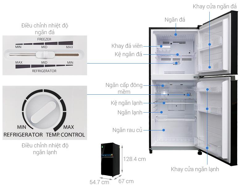 Thông số kỹ thuật Tủ lạnh Toshiba Inverter 171 lít GR-M21VUZ1 UKK