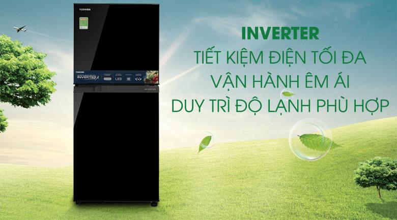 Công nghệ Inverter - Tủ lạnh Toshiba Inverter 171 lít GR-M21VUZ1 UKK