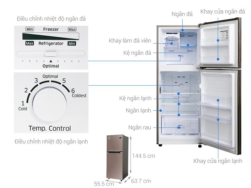 Thông số kỹ thuật Tủ lạnh Samsung Inverter 208 lít RT20HAR8DDX/SV