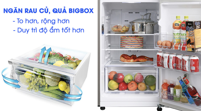 Bigbox - Tủ lạnh Samsung Inverter 208 lít RT20HAR8DDX/SV