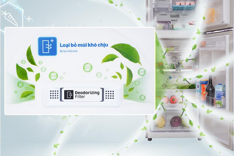 Tủ lạnh Samsung Inverter 208 lít RT20HAR8DDX/SV - Bộ lọc Deodorizer khử mùi kháng khuẩn