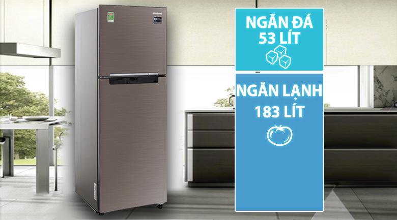 Tủ nhỏ gọn nhưng dung tích chứa lại lớn - Tủ lạnh Samsung Inverter 236 lít RT22M4032DX/SV
