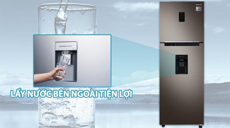 Tủ lạnh Samsung Inverter 321 lít RT32K5930DX/SV - Lấy nước bên ngoài