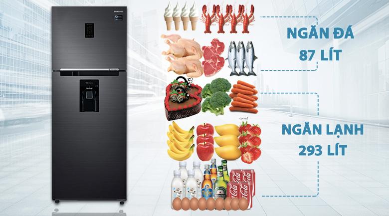 Dung tích tủ lạnh Samsung Inverter 380 lít RT38K5982BS/SV