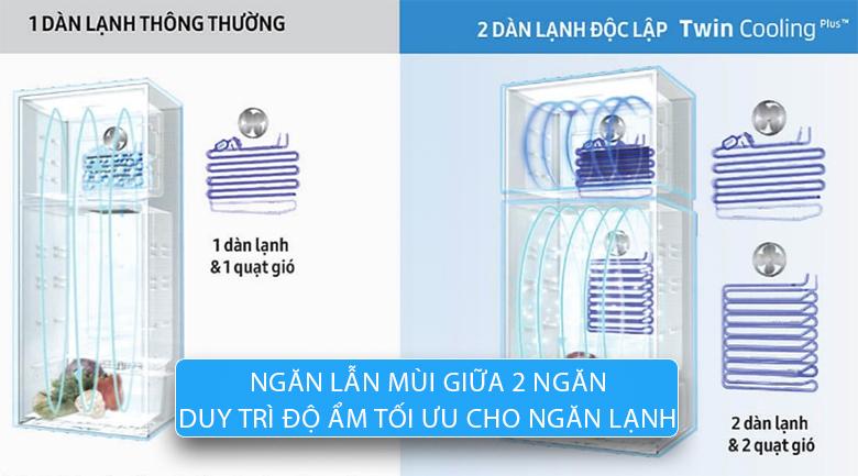 Hệ thống hai dàn lạnh riêng biệt (Twin Cooling Plus) - Tủ lạnh Samsung Inverter 380 lít RT38K5982BS/SV