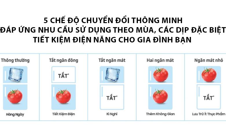 Hoạt động hiệu quả với 5 chế độ chuyển đổi theo nhu cầu - Tủ lạnh Samsung Inverter 380 lít RT38K5982BS/SV