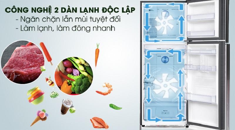 Duy trì ổn định nhiệt độ mỗi ngăn với công nghệ làm lạnh độc lập - Tủ lạnh Samsung Inverter 360 lít RT35K5982BS/SV