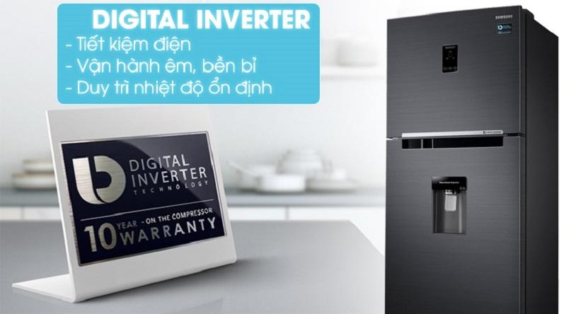 Tích hợp công nghệ Inverter hiện đại tiết kiệm điện tốt hơn - Tủ lạnh Samsung Inverter 360 lít RT35K5982BS/SV